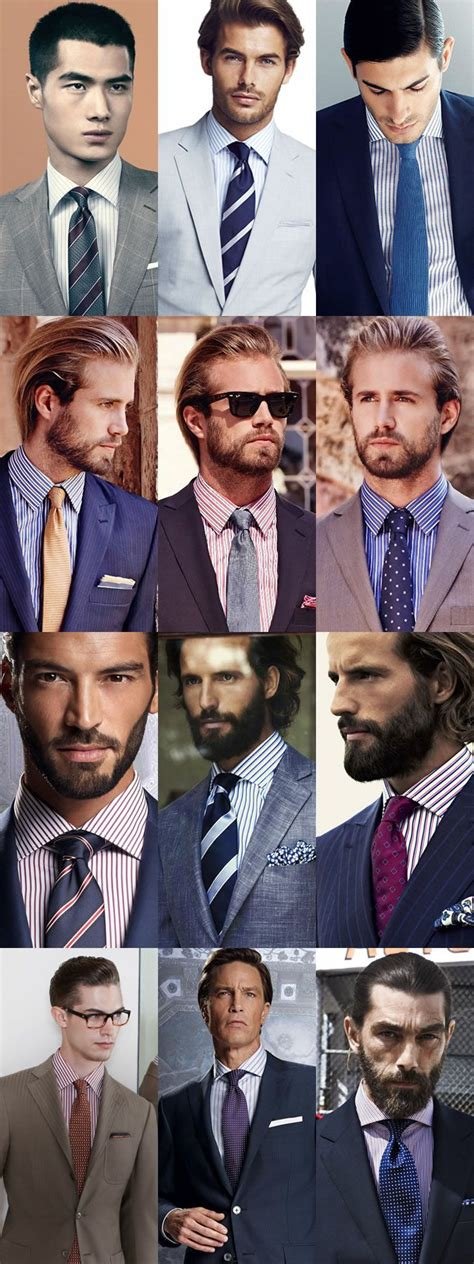 s striped shirts and tie combinations lookbook from