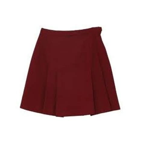maroon pleated skirt search