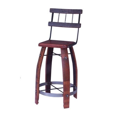 Wine Stave Bar Stools by Wine Barrel Stave Bar Stools With Backs By 2 Day Designs