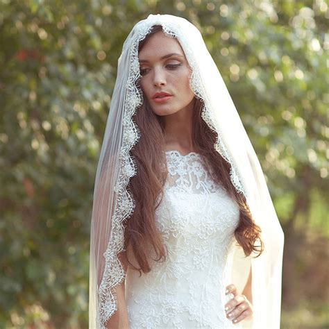 beaded veil beaded mantilla veil by