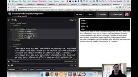 responsive layout youtube an all css quot hamburger quot style menu setup with responsive