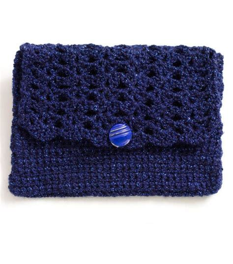 crochet pattern clutch purse cute navy crochet clutch purse crochet knit pinterest