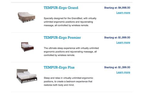 tempurpedic adjustable beds top 35 complaints and reviews about tempur pedic