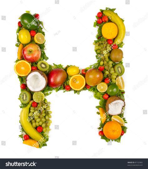 h letter fruit fruit alphabet letter quot h quot stock photo 87152983