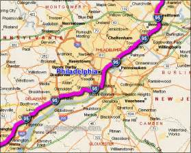 us map of interstate 95 i 95 philadelphia traffic maps and road conditions