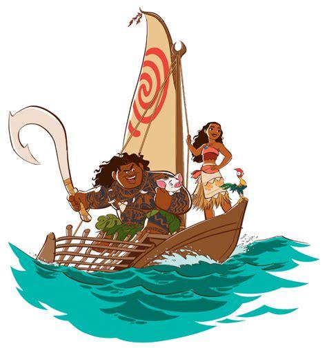 image moana s team png disney wiki fandom powered by - Moana Boat Clip Art