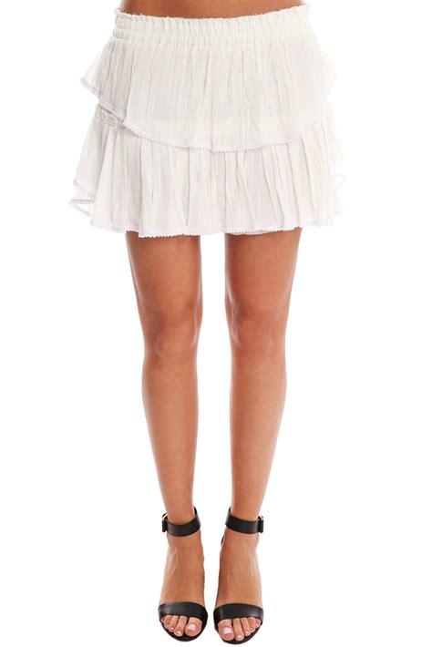 Skirt Ruffle loveshackfancy ruffle mini skirt in white lyst
