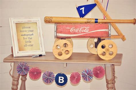 Vintage Baseball Baby Shower Decorations by Vintage Baseball Baby Shower Ideas Photo 15 Of 20