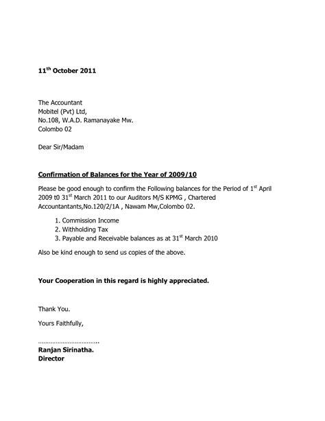 receivable confirmation letter format external confirmation letter format new account receivable
