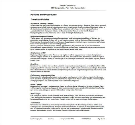 commission plan template life abundance compensation plan
