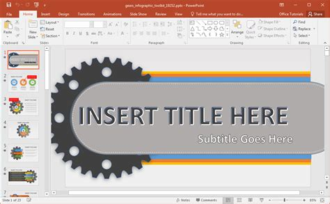 Animated Gears Infographic Powerpoint Template Powerpoint Infographic Templates