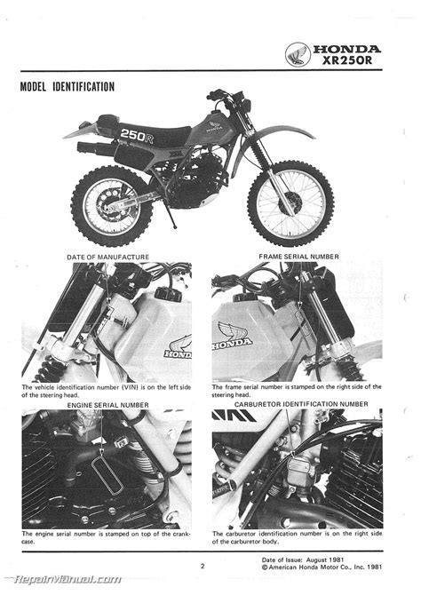 honda xrr motorcycle service manual