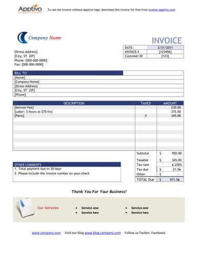 ms excel work order invoice template word excel templates