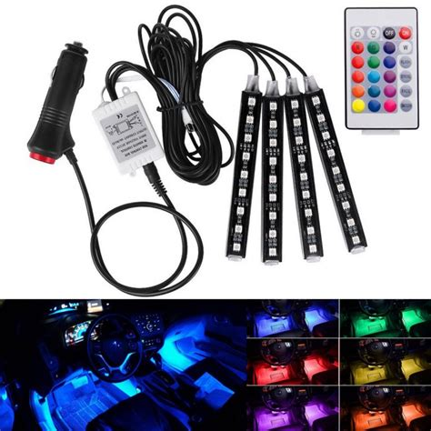 Led Auto by Led Auto Interieur Verlichting Rgb Afstandbediening