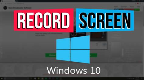 Obs Tutorial Windows 10 | how to record your computer screen free in windows 10