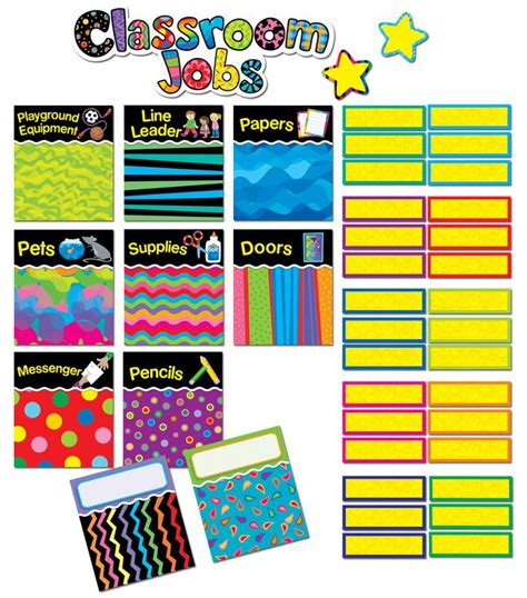 design pattern helper poppin patterns classroom jobs mini bulletin board set