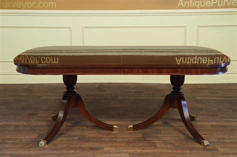 double pedestal dining table formal double pedestal mahogany dining table with 2 leaves
