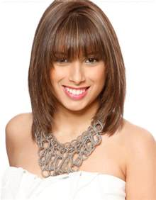 shoulder length hairstyles with bangs 40 10 medium haircuts for women learn haircuts