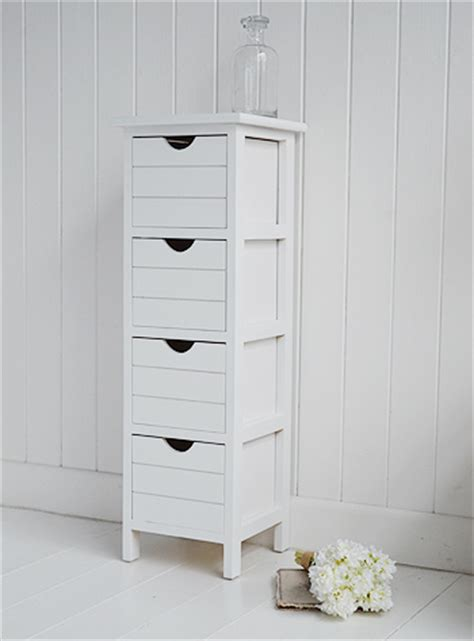 Narrow Drawers Bathroom by Dorset Narrow Free Standing Bathroom Cabinet With 4 Storage Drawers Ideal For Smaller Bathrooms