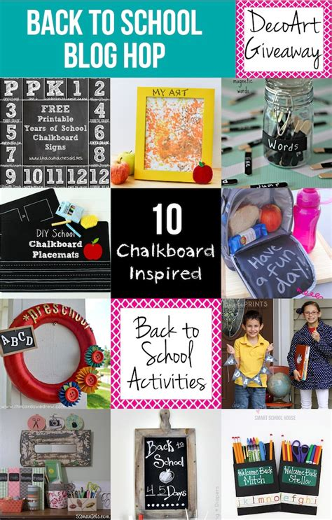 Back To Blogging by Back To School Hop With 10 Chalkboard Ideas Dimple