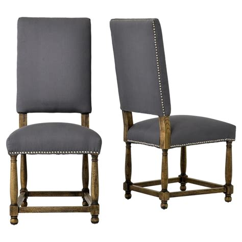 french country dining room chairs charles french country grey linen high back dining room