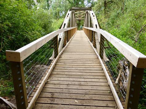 photo bridge buford park wood  image
