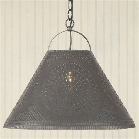 punched tin lighting punched tin shade light in black