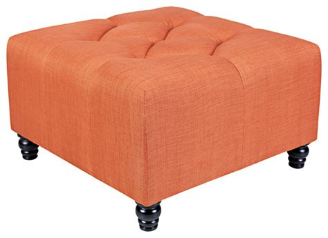 orange cocktail ottoman orange tufted ottoman 28 images tufted orange linen