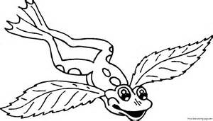 wings of coloring pages frog with wings coloring pages for kidsfree