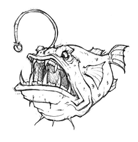 coloring pages of angler fish angry angler fish coloring pages angry angler fish
