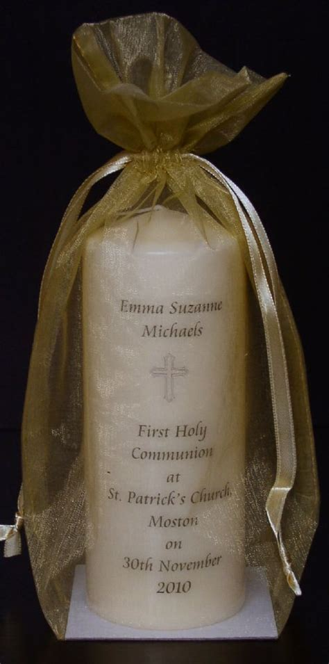 Personalised First Holy Communion Candle Gift