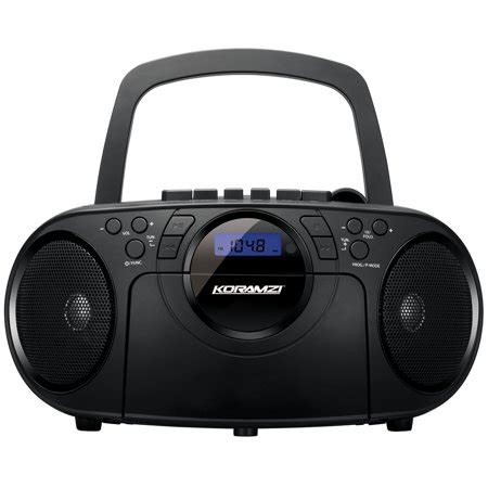 cd and cassette player portable cd boombox stereo sound system w top loading mp3
