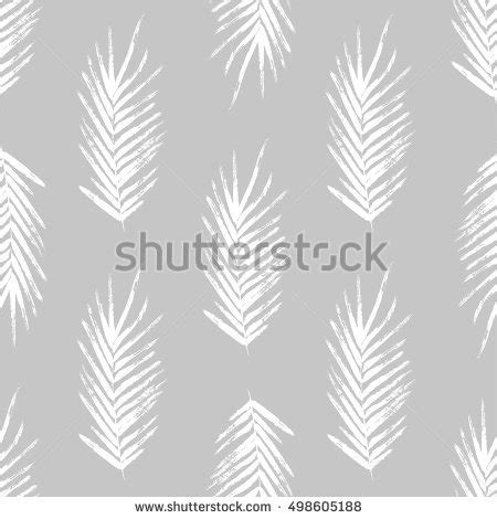 leaf pattern brush set brush painted palm leaves hand stock vector 497829193