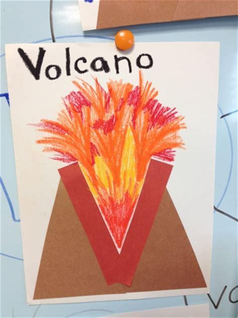 volcano craft for alphabet letter craft v is for volcano color me sweet
