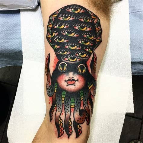 seven doors tattoo squid by teide seven doors tattoos