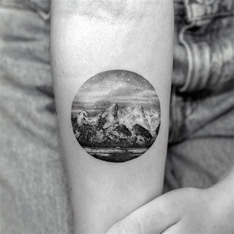 small detailed tattoo 90 landscape tattoos for scenic design ideas