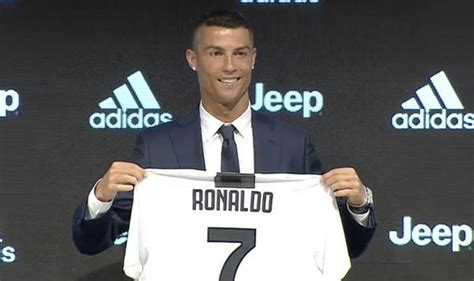 ronaldo juventus press cristiano ronaldo to juventus portugal ace officially unveiled after real madrid transfer