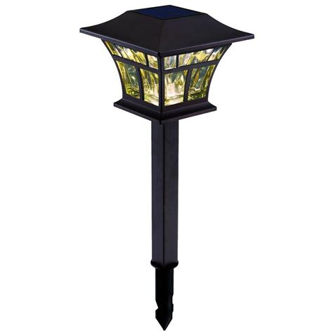 home depot hton bay solar lights hton bay outdoor solar powered landscape led