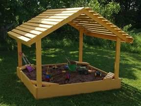 covered sandbox plans to build a 6 x 6 covered sandbox sand box