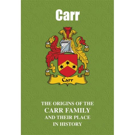 the carr family records embracing the record of the families who settled in america and their descendants with many branches who came to this country at a later date classic reprint books carr family name book