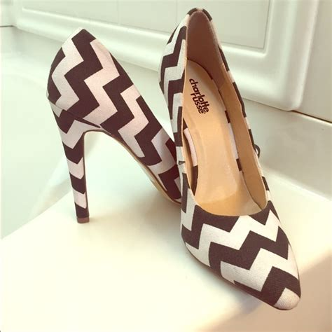 black and white chevron heels 45 off charlotte russe shoes black and white chevron