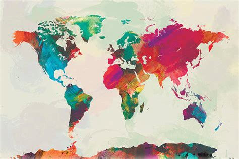 colorful world map colourful world map shared by kateyfinnigan on we it
