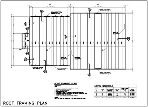 flat roof plan framing shed autocad drawings