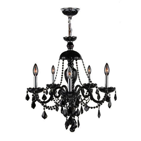 5 Light Black Chandelier Worldwide Lighting Provence Collection 5 Light Polished Chrome And Black Chandelier