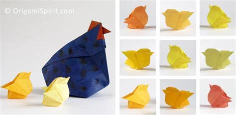 Origami Chicken Easy - make an origami hen improved and updated to make a
