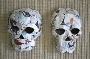 How To Make Masks Out Of Paper Mache - day of the dead crafts masks made by toya