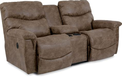reclining loveseat with middle console casual power la z time full reclining loveseat with