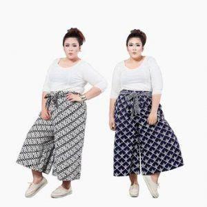 Setelan Batik Celana Kulot Pola 41 model baju batik wanita gemuk agar terlihat langsing