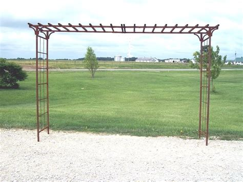 Wide Trellis 84 Quot Wrought Iron Wide Mission Arbor