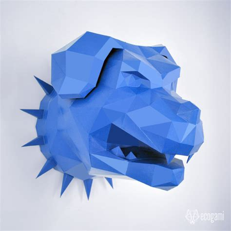 rottweiler pdf rottweiler paper diy faux taxidermy wall mount 3d papercraft sculpture